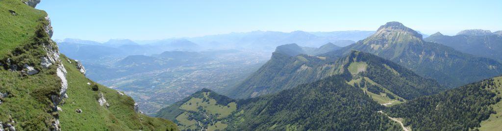 Panoramique - Grenoble vue de la Dent de Crolles (juillet 2007)